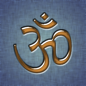 A golden Aum written in Devanagari. The Aum is...