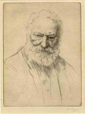 Victor Hugo, by Alphonse Legros.