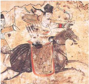 English: From the Xianbei Tomb Paintings (of F...