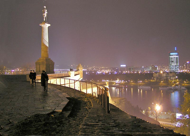 Present day view from Kalemegdan Fortress