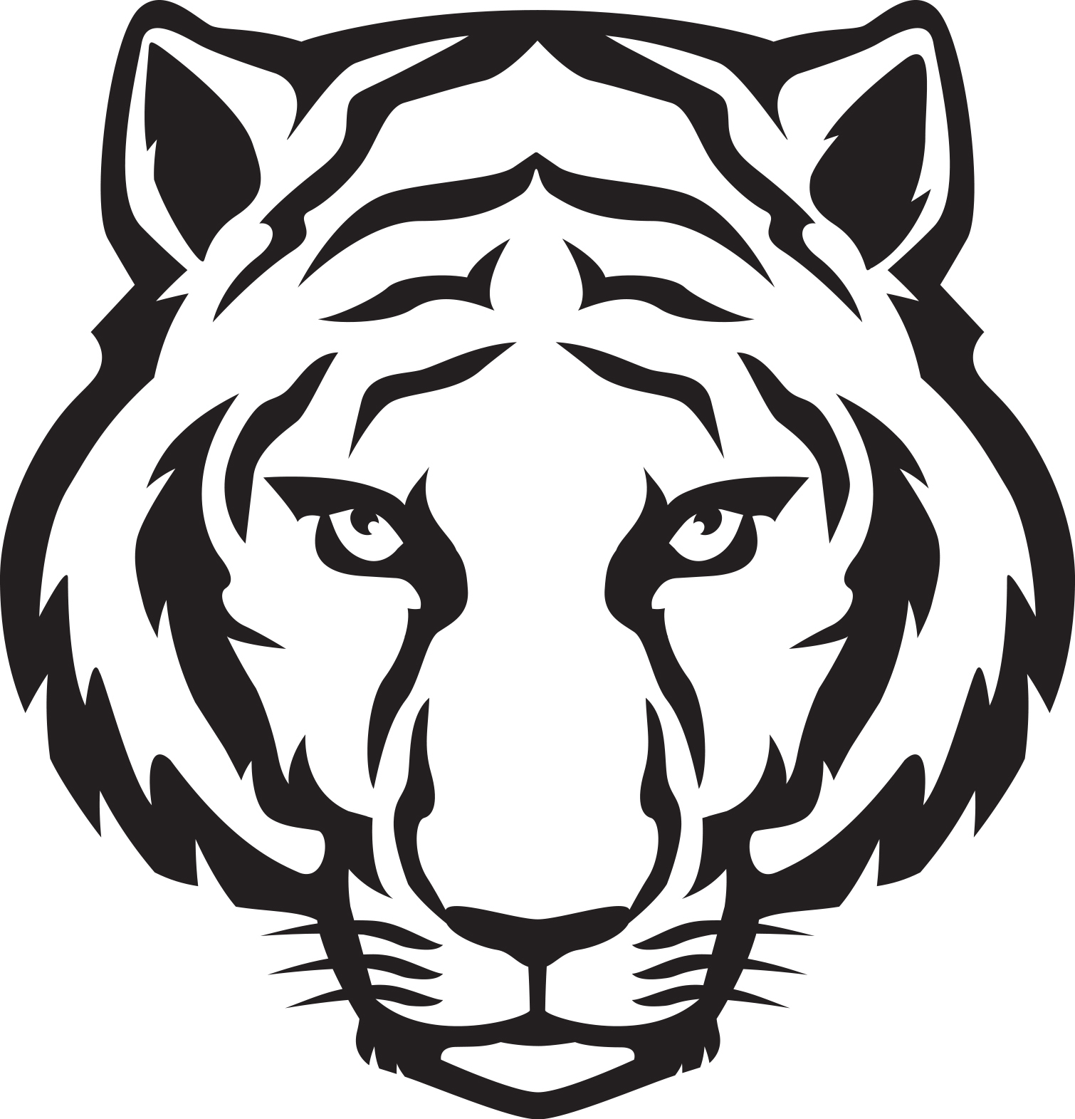 file tiger cartoon face