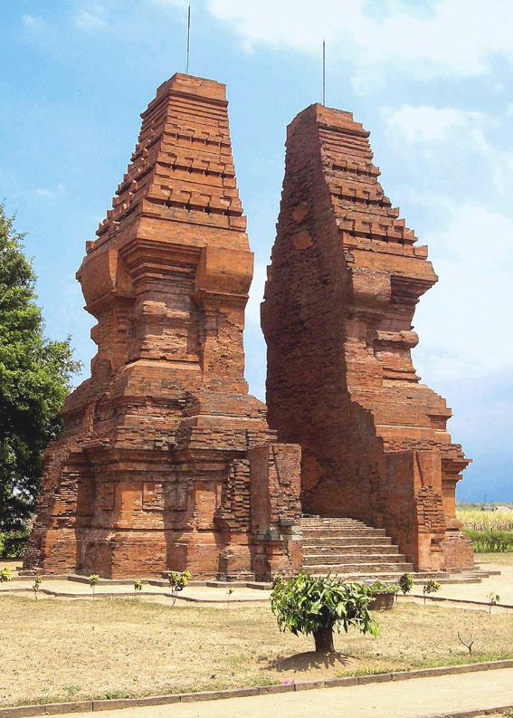 Wringin Lawang, a 14th century Majapahit split...