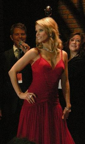 Cheryl Hines modeling at the Red Dress Collect...