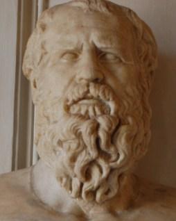 Busto di filosofo greco, talvolta identificato con Eraclito (Roma, Musei capitolini)