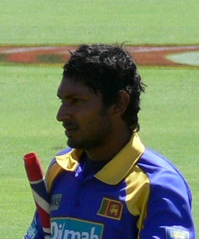 Portrait picture of Sri Lankan cricketer Kumar...