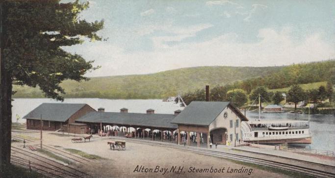 Alton Bay in olden days.