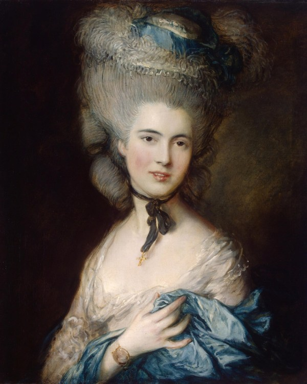 File Thomas Gainsborough - Portrait Of Lady In Blue Wikimedia Commons