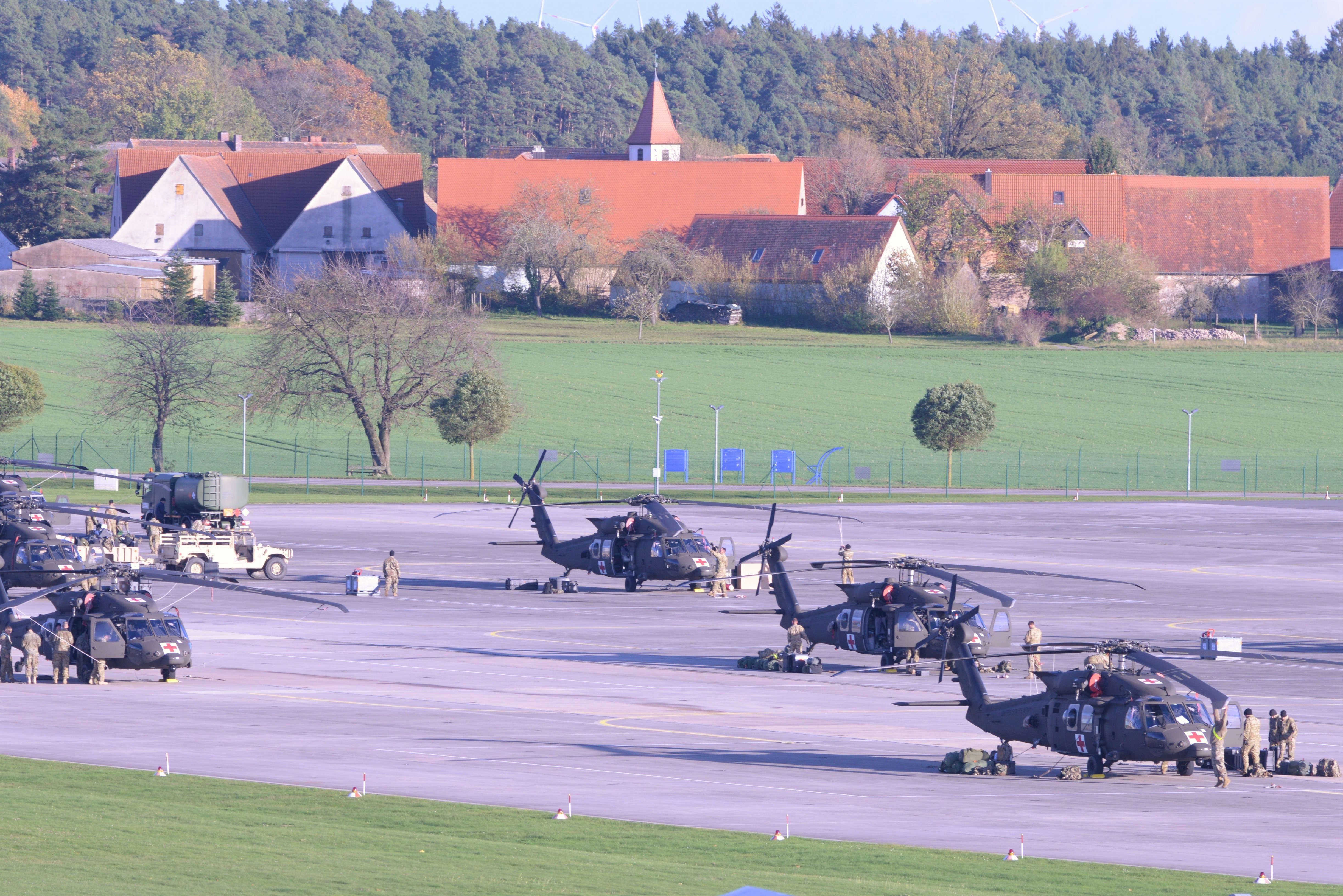 File:2-227th Aviation Regiment. 1st Air Cavalry Brigade helicopters arrive at Katterbach Army Airfield in Ansbach 2017.jpg - Wikimedia Commons