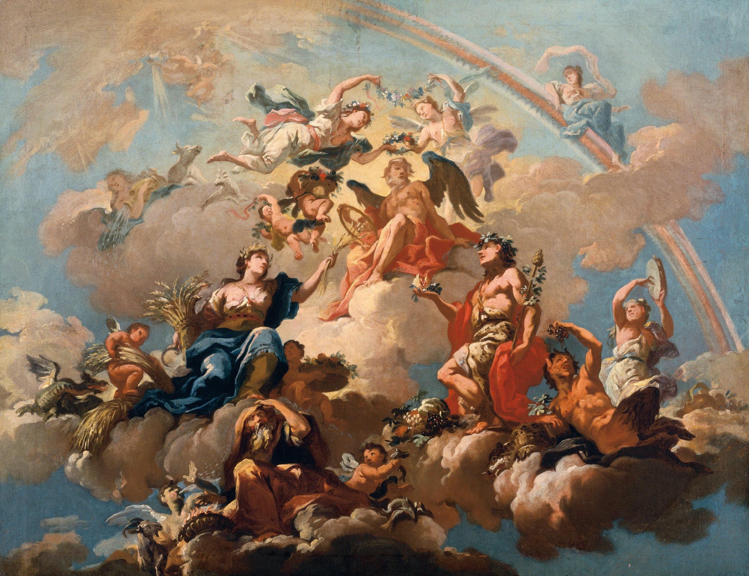 Bartolomeo Altomonte, Cztery Pory Roku wyróżniające Chronosa, 1737