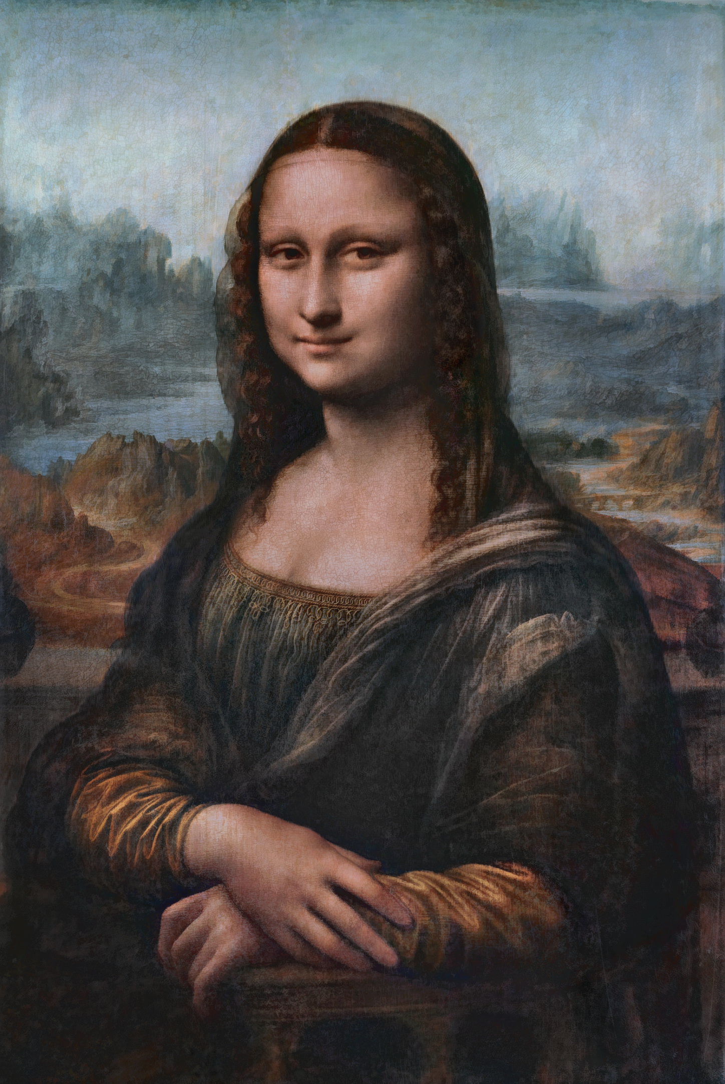 How Long Did It Take To Paint The Mona Lisa : paint, File:Da, Vinci's, Original, Colors, Approximation.jpg, Wikimedia, Commons