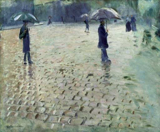 Gustave Caillebotte, 1877 - Rue de Paris, jour de pluie (étude)