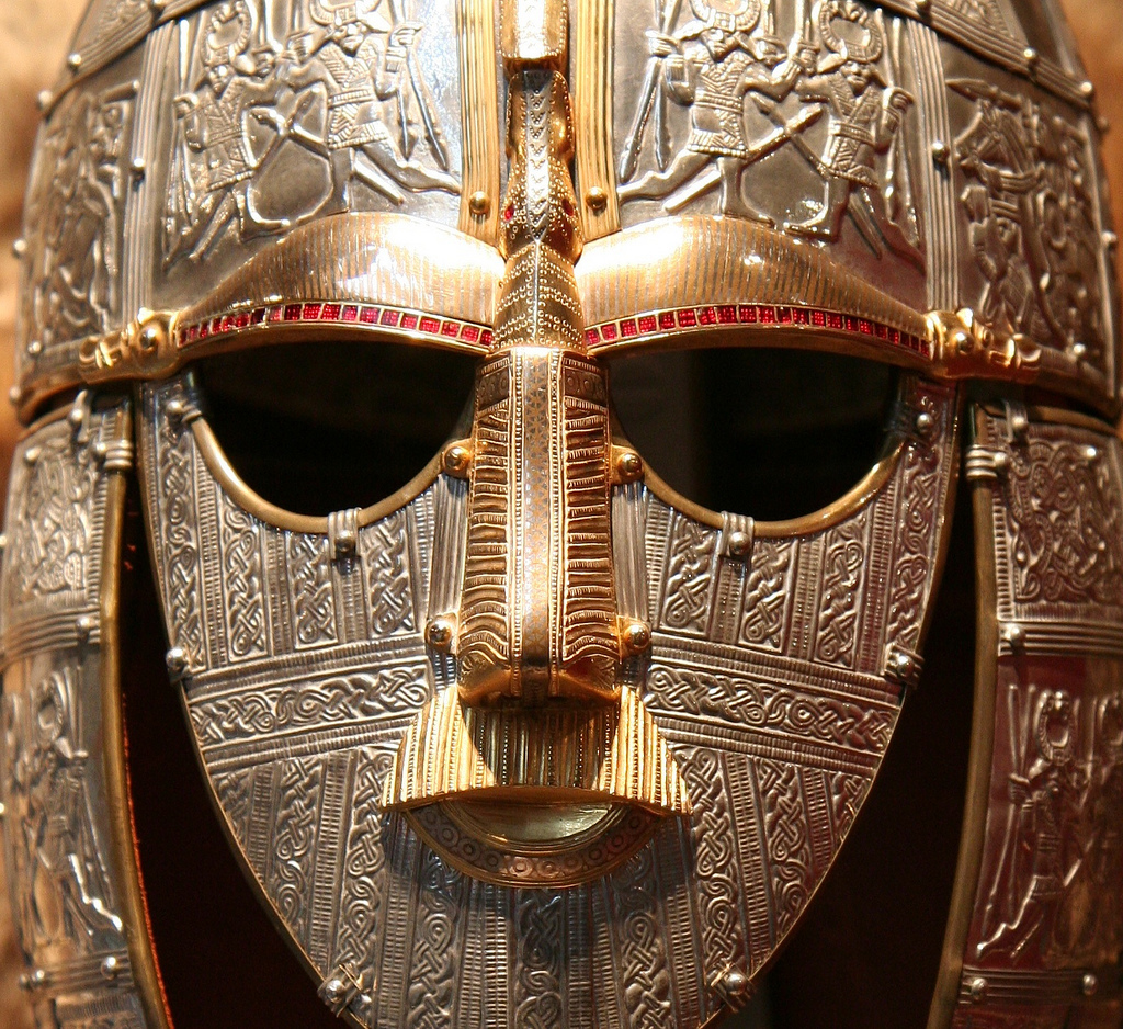 Replica of the helmet from the Sutton Hoo ship-burial (Wikimedia Commons)