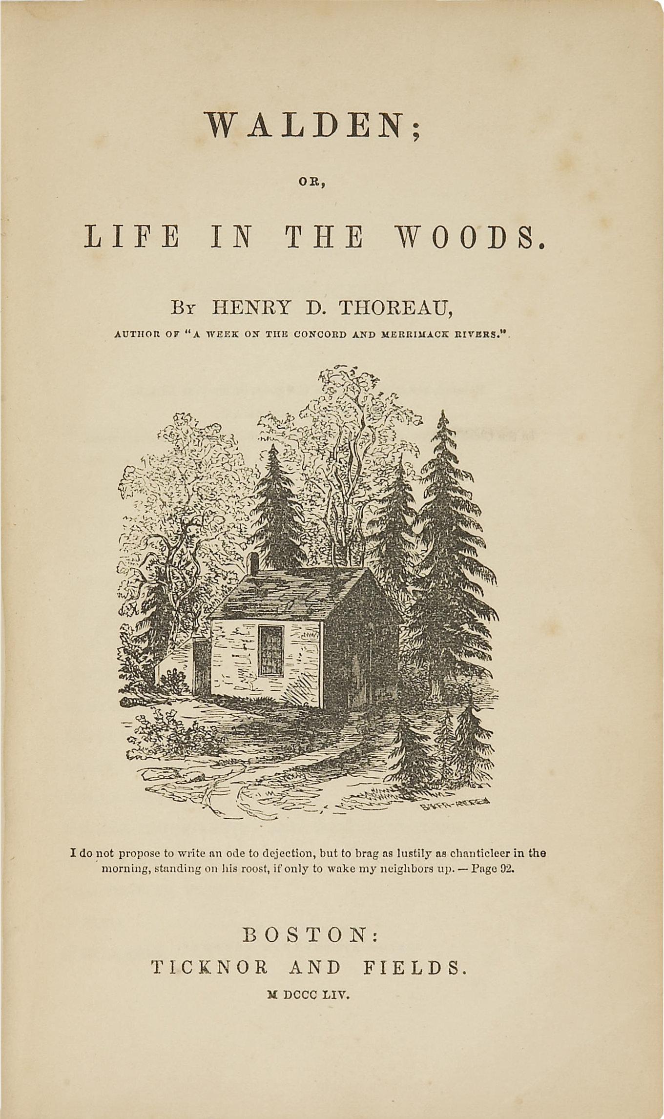 Thoreau's Walden (1854)