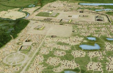 Поселение Миссисипской археологической культуры. Картинка фонда wikimedia