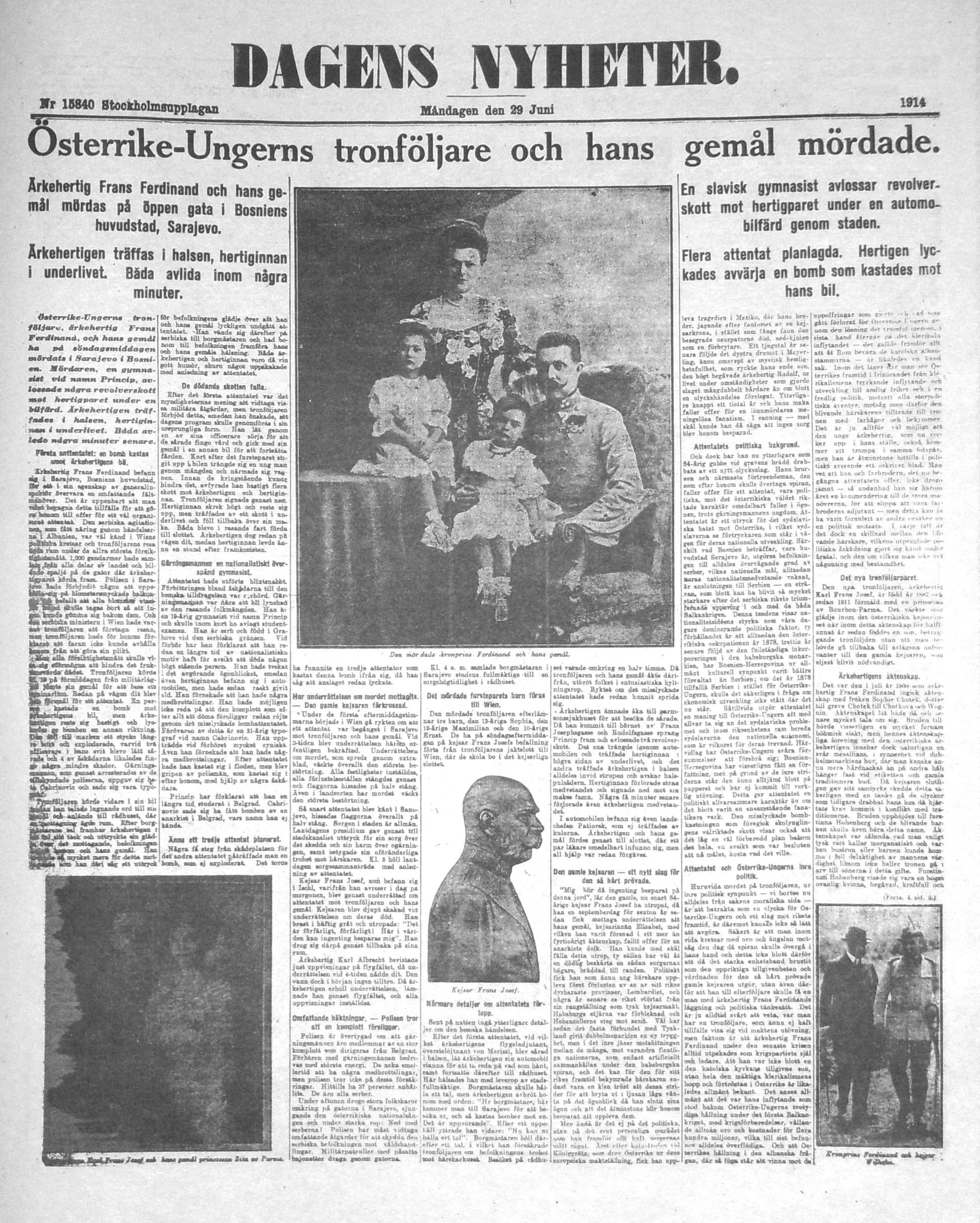 FileDagens Nyheter 29 Juni 1914jpg Wikimedia Commons
