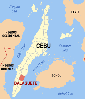 English: Map of Cebu showing the location of D...