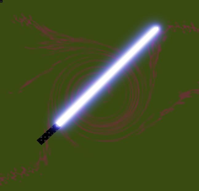 a blue lightsaber