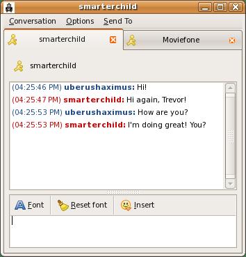 A sample Pidgin conversation window.