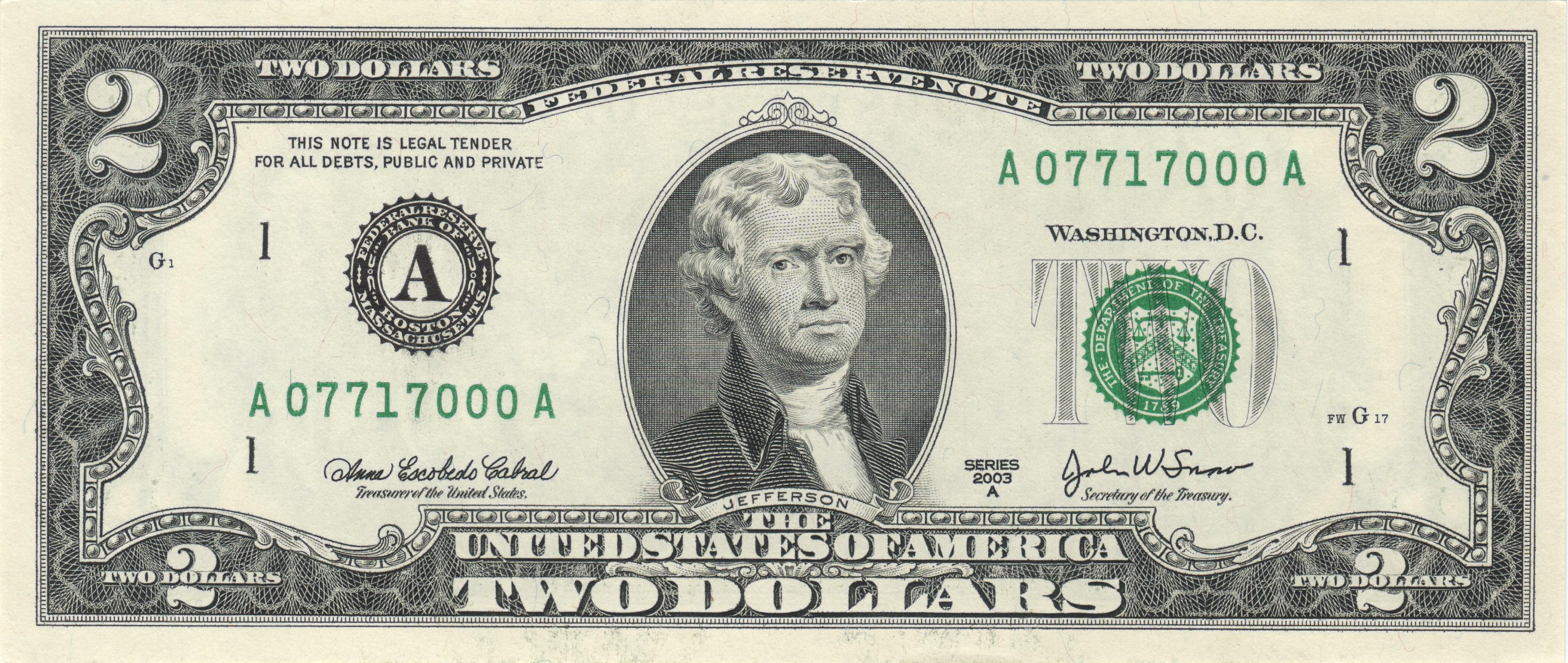 United States twodollar bill  Wikiwand