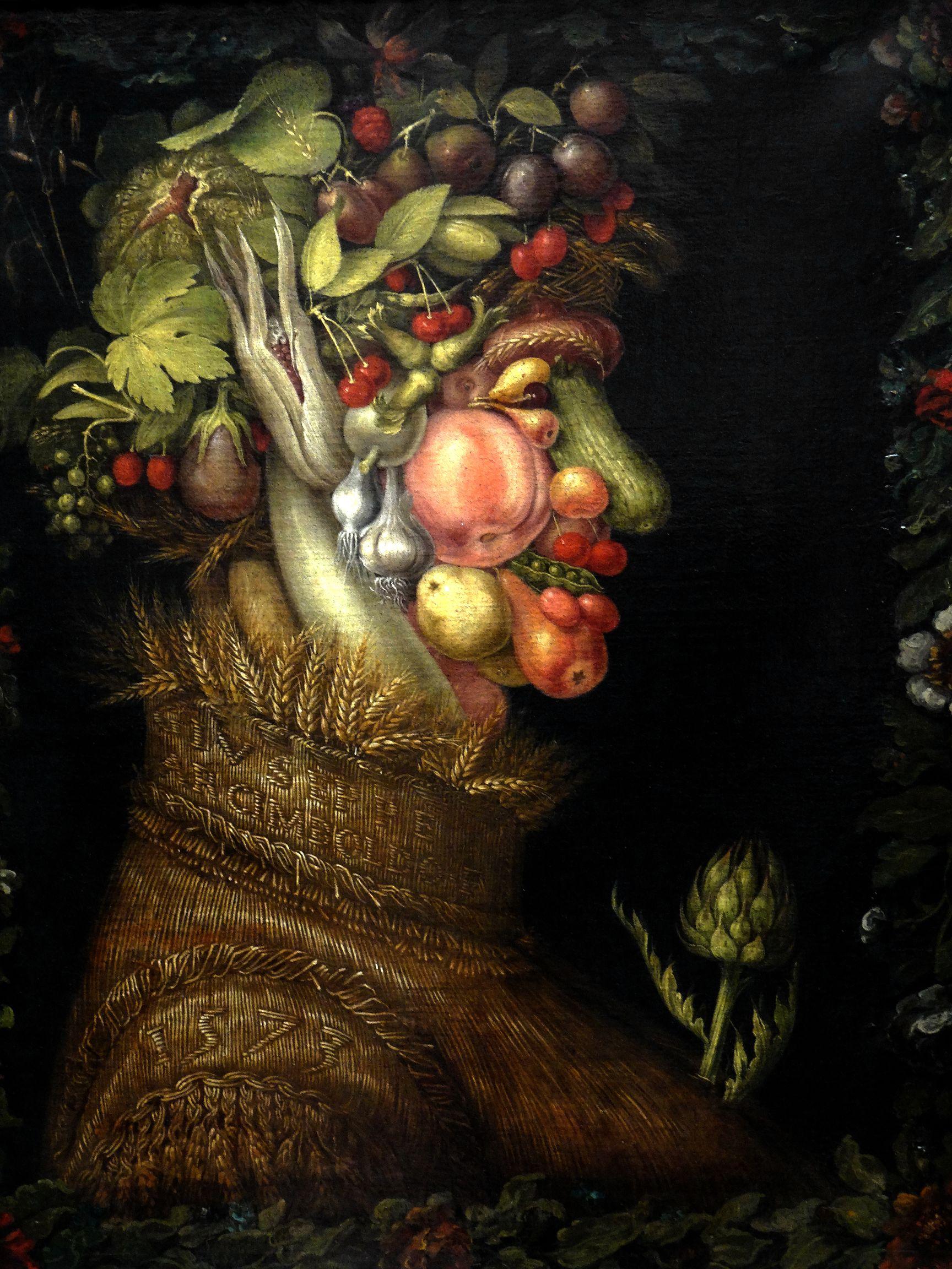 Verano, de Giuseppe Arcimboldo. Fuente Wikipedia