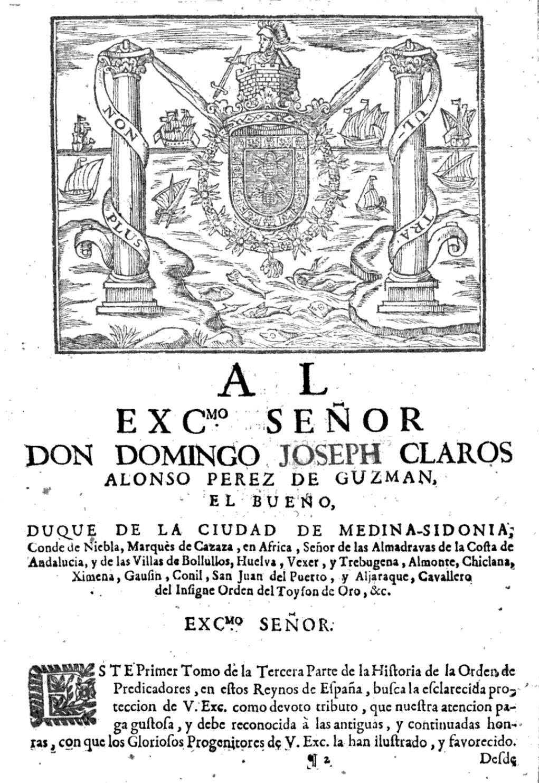 Domingo José Claros Alonso Pérez de Guzmán el Bueno