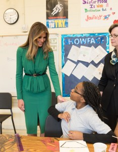 File melania trump visits excel academy public charter school april  also rh commonsmedia
