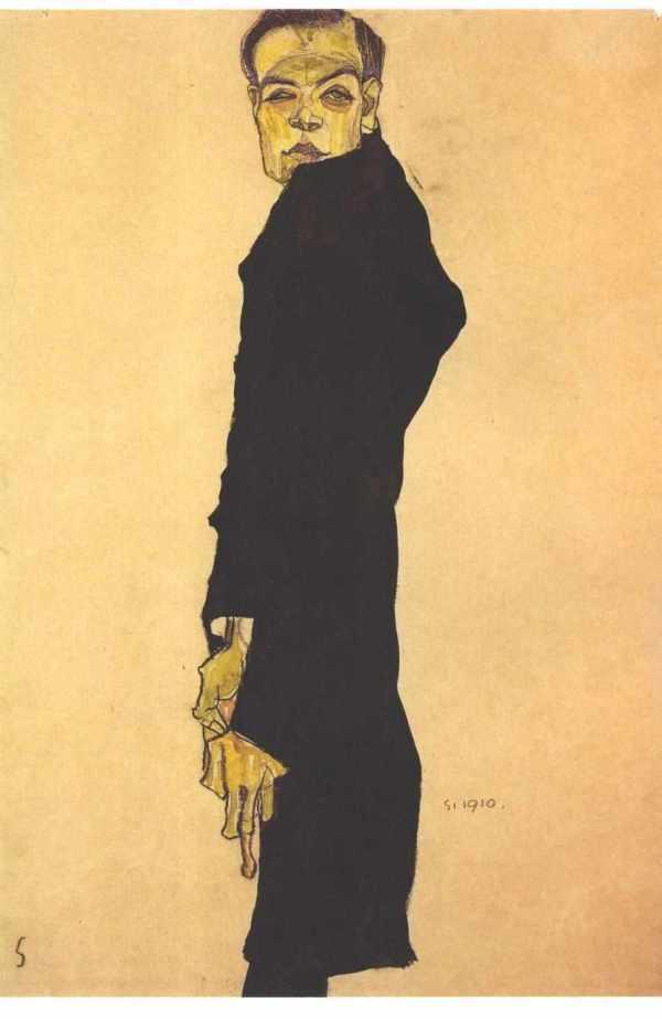 File Schiele - Bildnis Des Malers Max Oppenheimer 1910