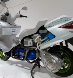 suzuki burgman fuel cell prototype most electric motorcycles and scooters  [ 2560 x 1841 Pixel ]