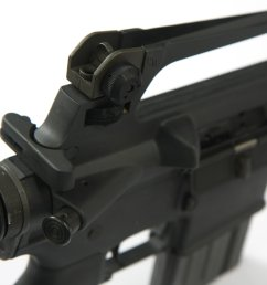 the ar 15a2 most distinctive ergonomic feature is the carrying handle and rear sight assembly on top of the receiver  [ 3888 x 2592 Pixel ]