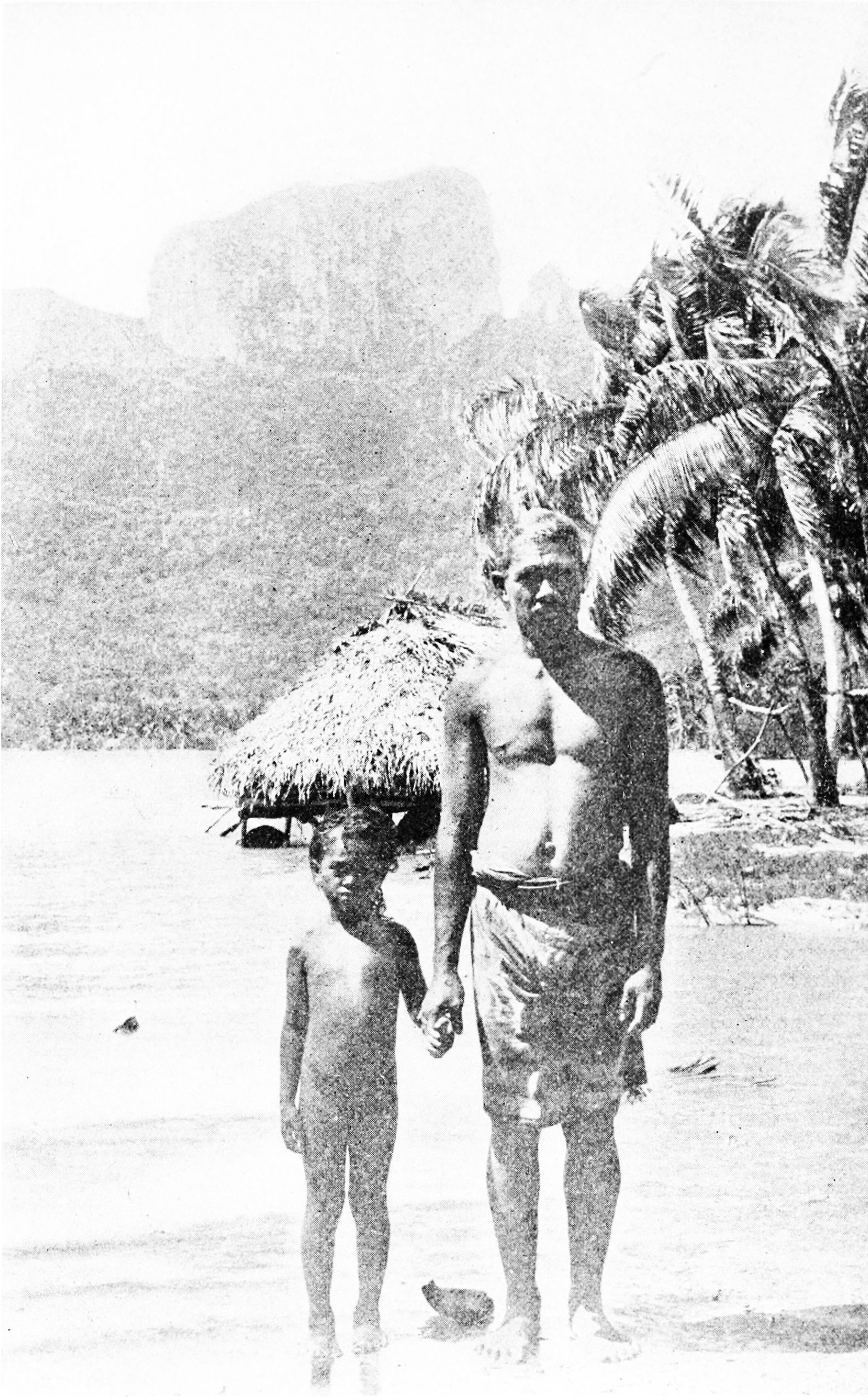 Father and daughter on Bora Bora.