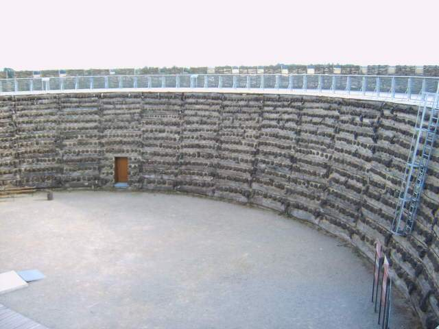 The courtyard of the fortress Raddush.