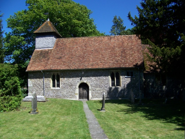 St Andrew's Church, Boscombe, Wiltshire, seen from the south