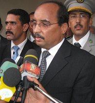 Mohamed Ould Abdel Aziz in his home city Akjou...