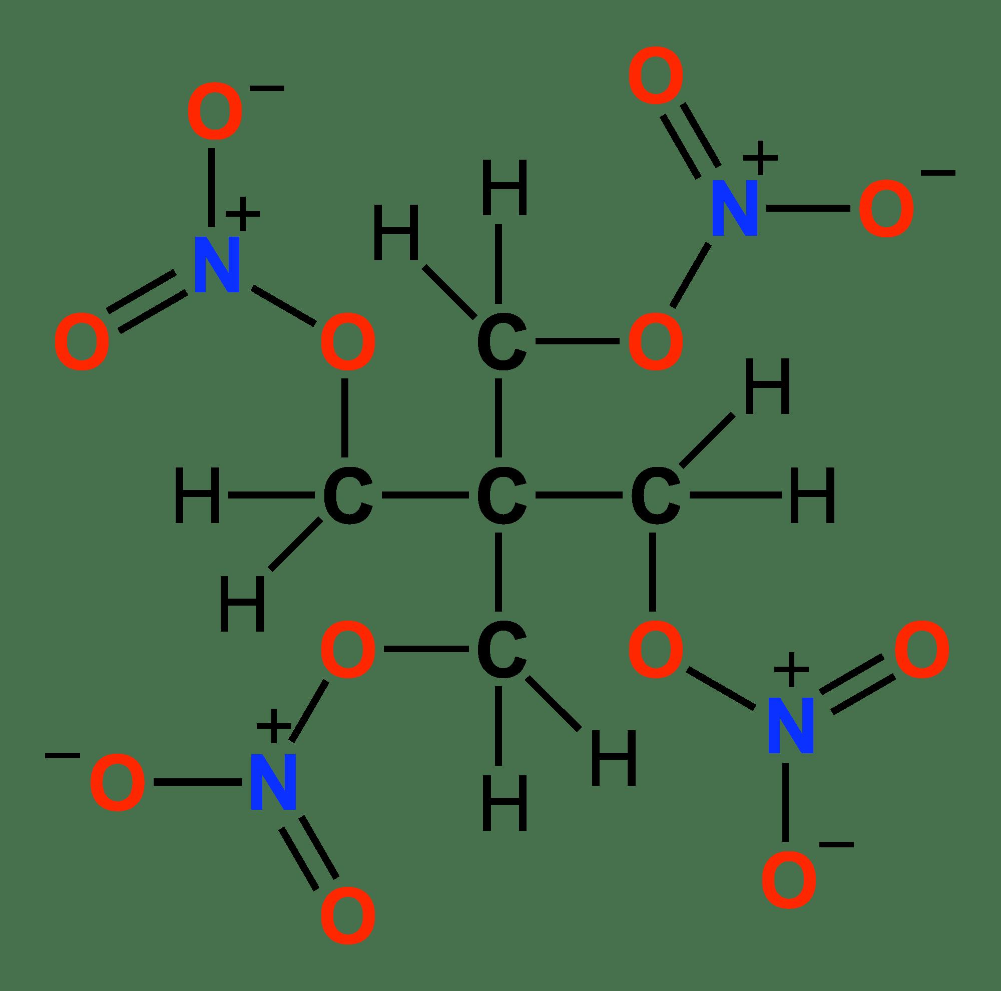 File Petn Structural Formula 2d Colour Coded