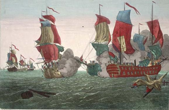 Battle of Cape Flamborough Head, September 23, 1779.