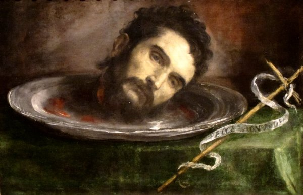 John the Baptist Head Painting