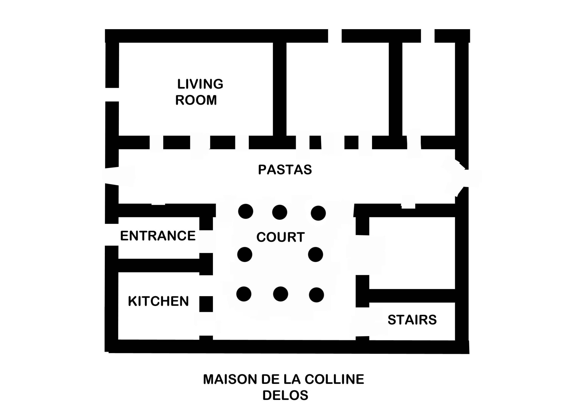 hight resolution of file ancient greek plan house of colline delos jpg