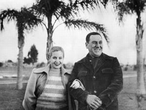 Español: Juan Domingo Perón y Eva Duarte, en o...