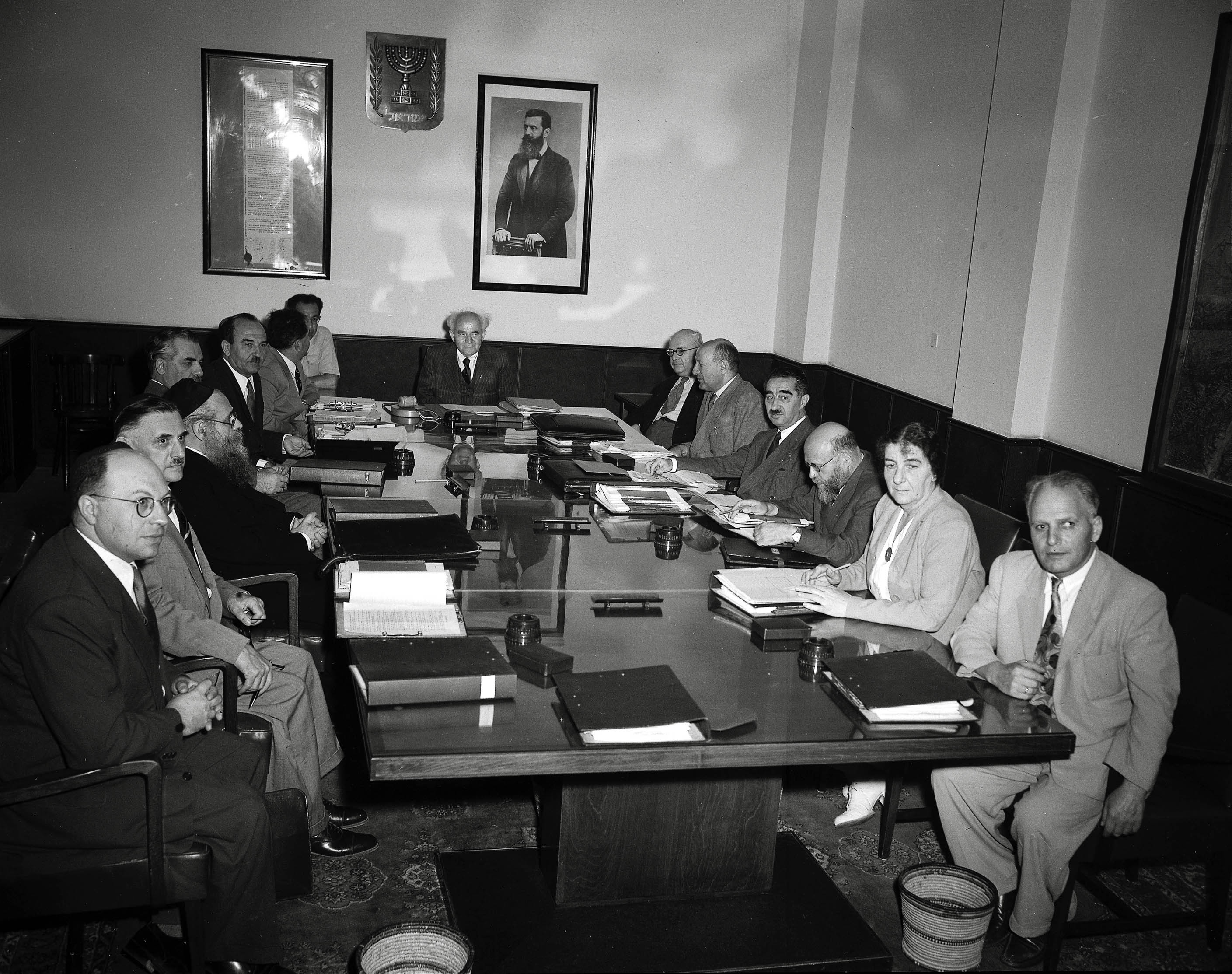 File:The first meeting of the Israeli 3rd government.jpg