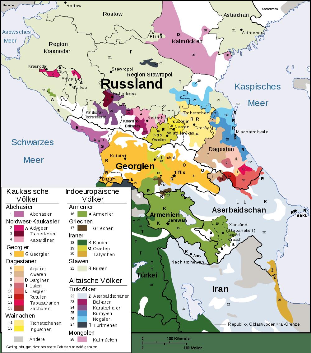 Kaukasus Karte
