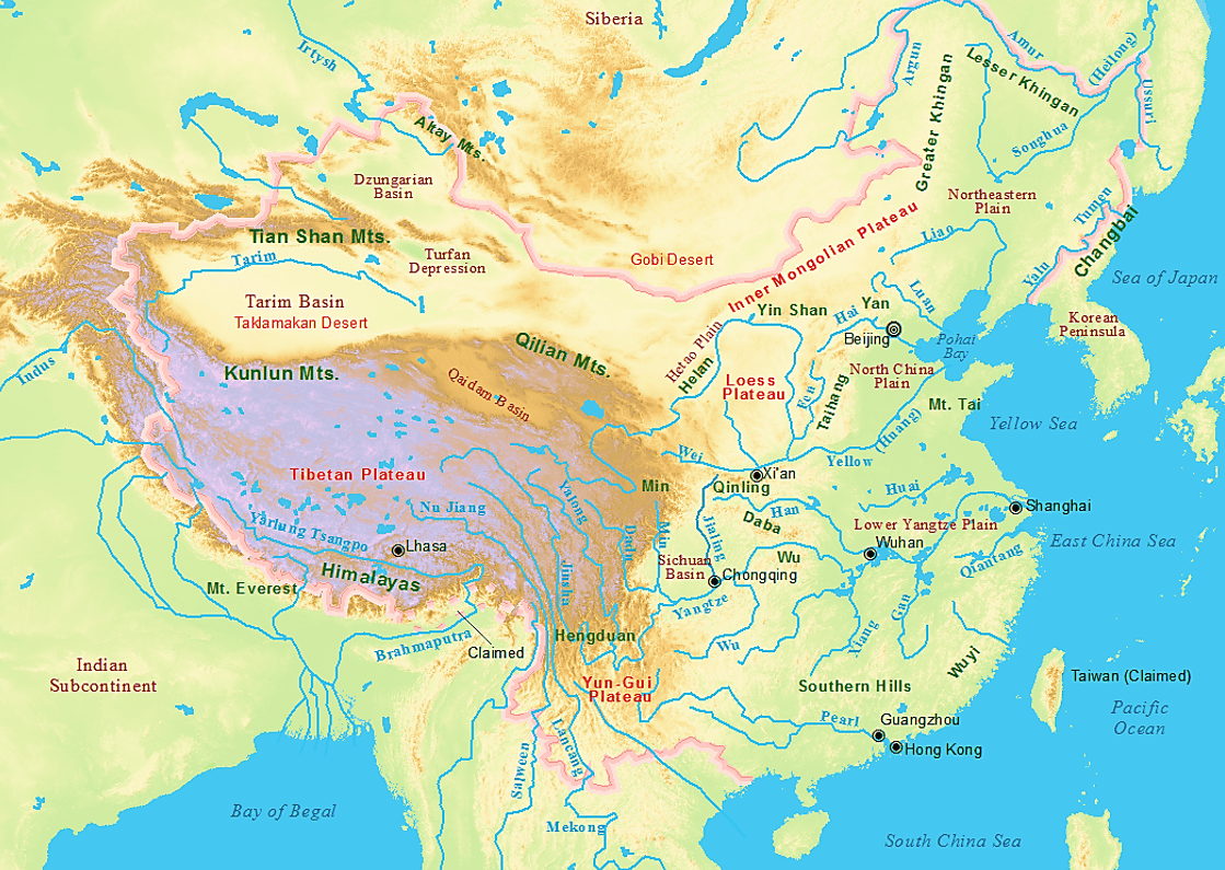 Online Maps Geography Of China