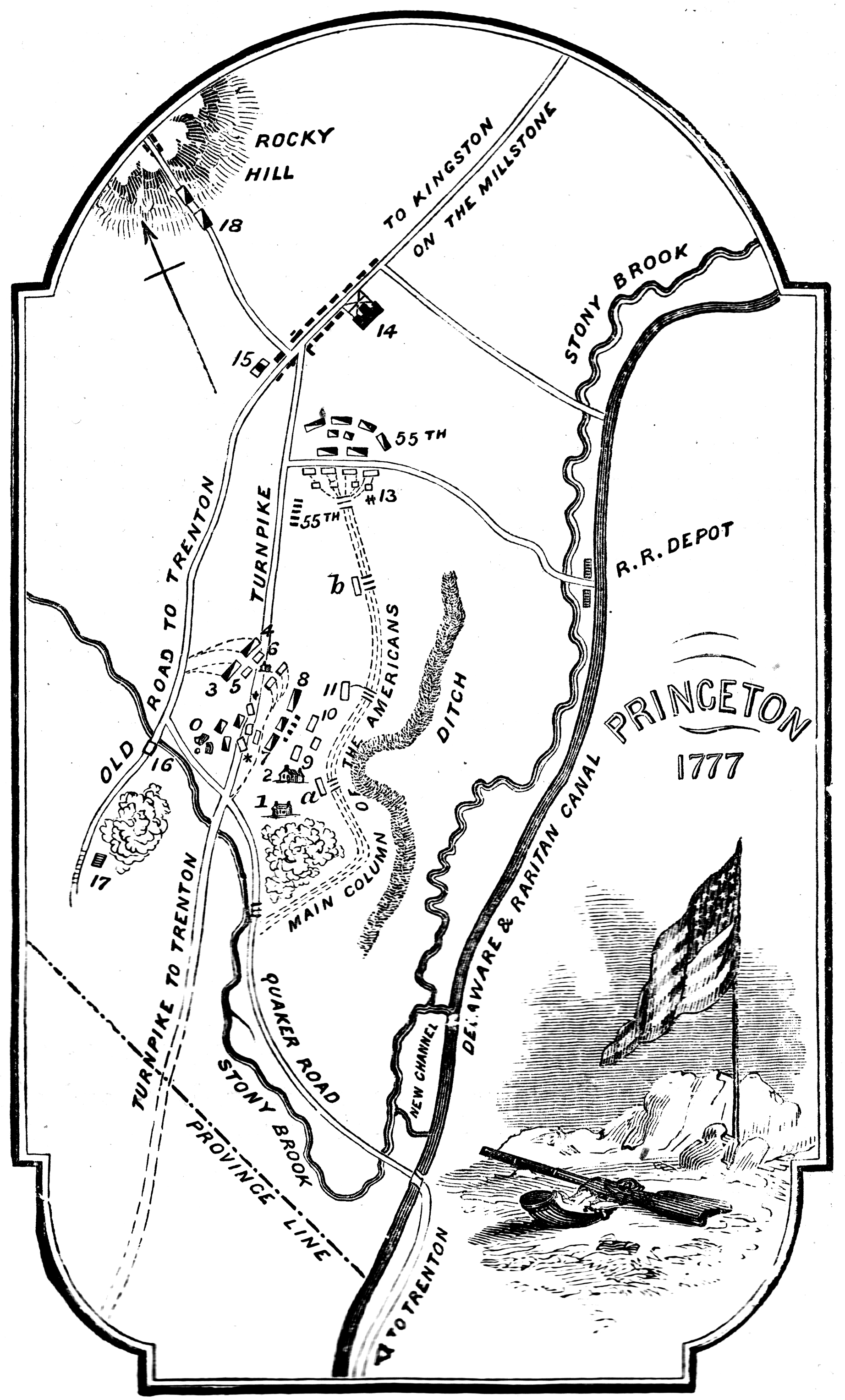 File Map Of The Battle Of Princeton Nj January 2 3
