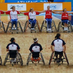 Wheelchair Volleyball Baby Sleeper Chair File Basketball At The 2004 Summer Paralympics Jpg