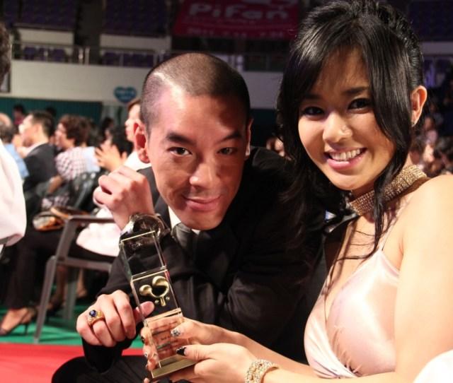 Filejuno Mak And Sora Aoi With Juno Maks Award At Pifan 20110722 Jpg