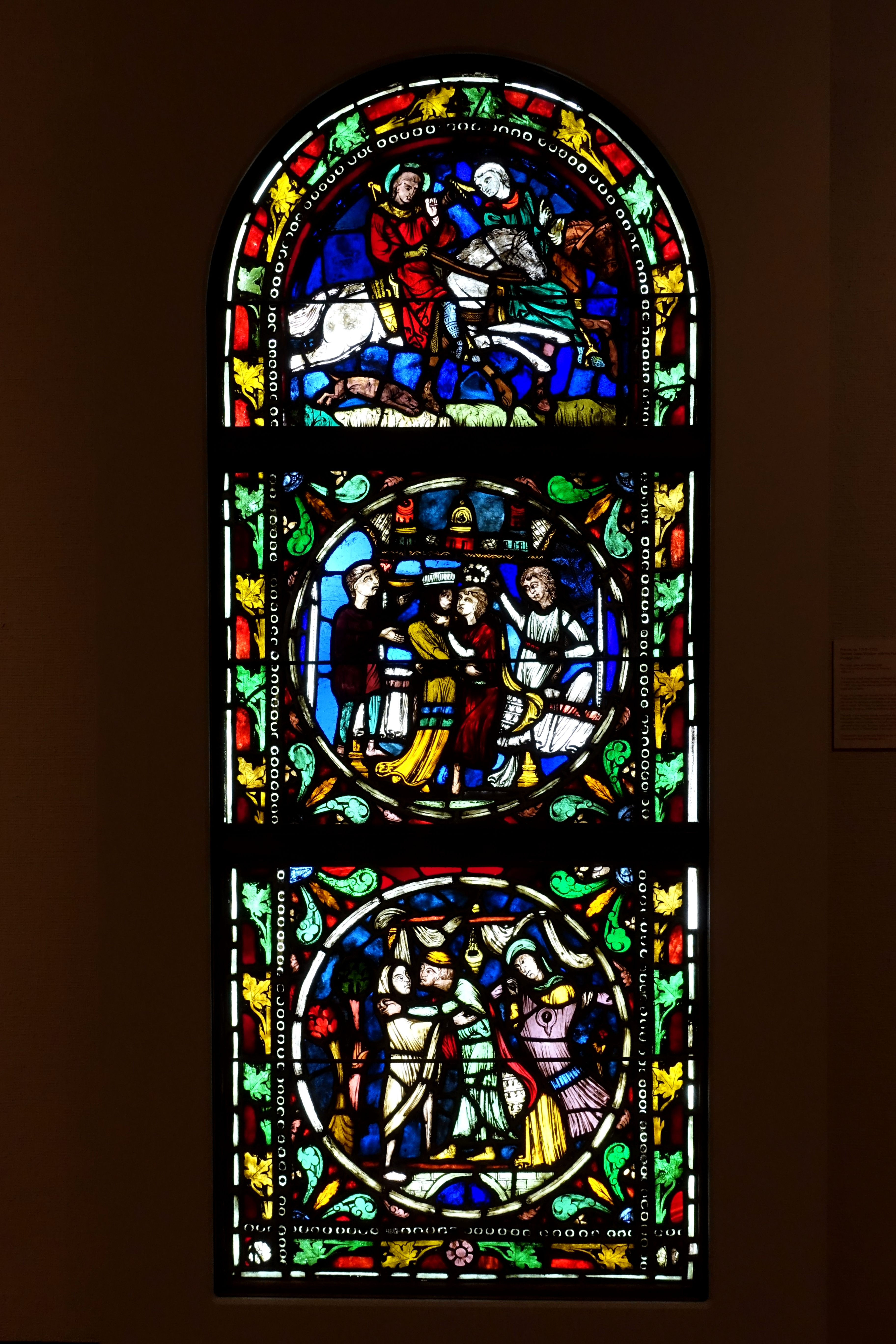 FileStained glass window with the Parable of the Prodigal