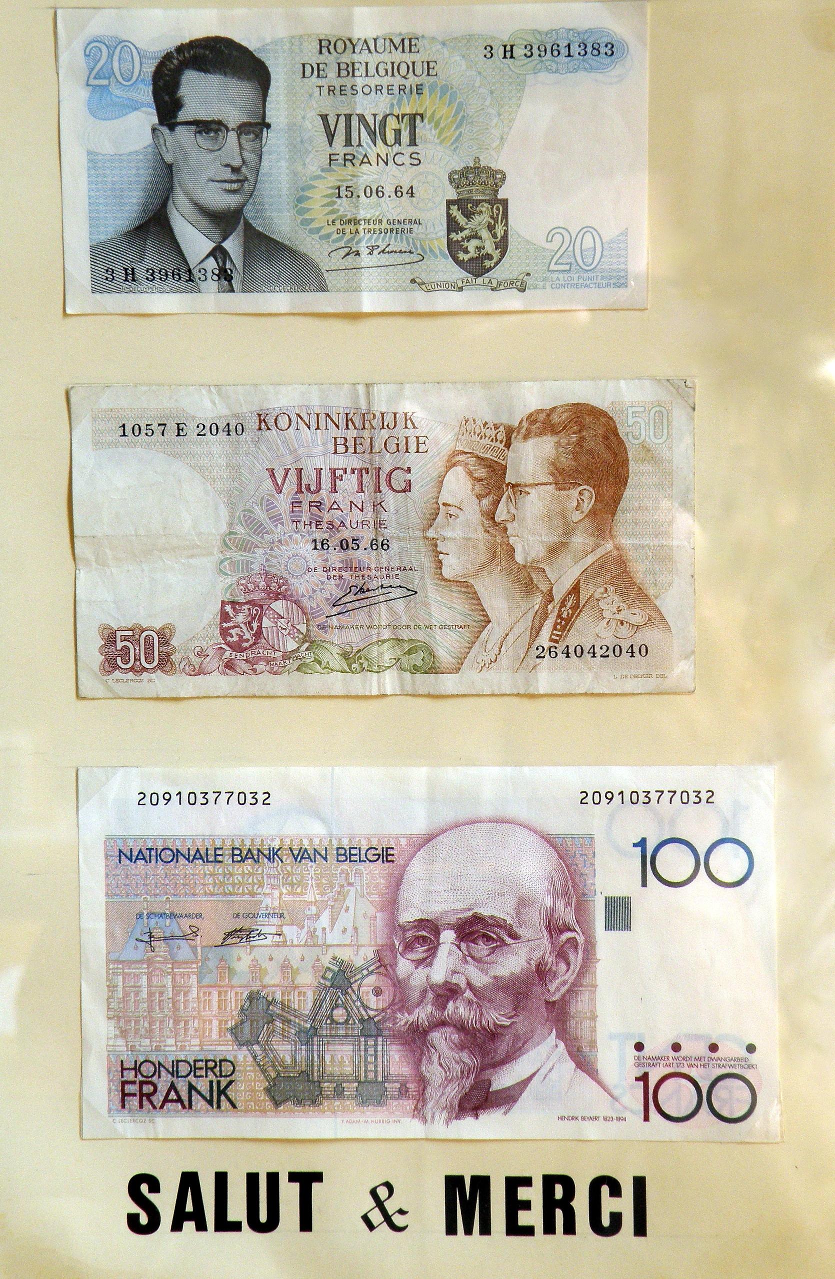 500 Anciens Francs En Euros : anciens, francs, euros, Franc, Belge, Wikiwand
