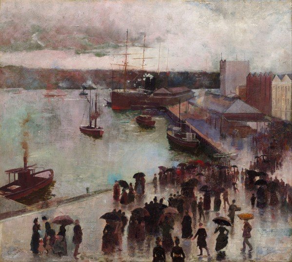 Charles Conder Circular Quay of the Orient 1888 Departure