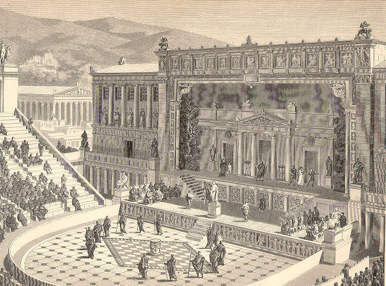 Theatre of Dionysus in Roman Epoch.