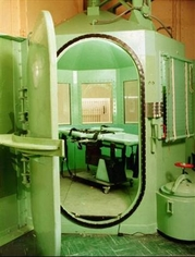 Old gas chamber for death row inmates in Calif...