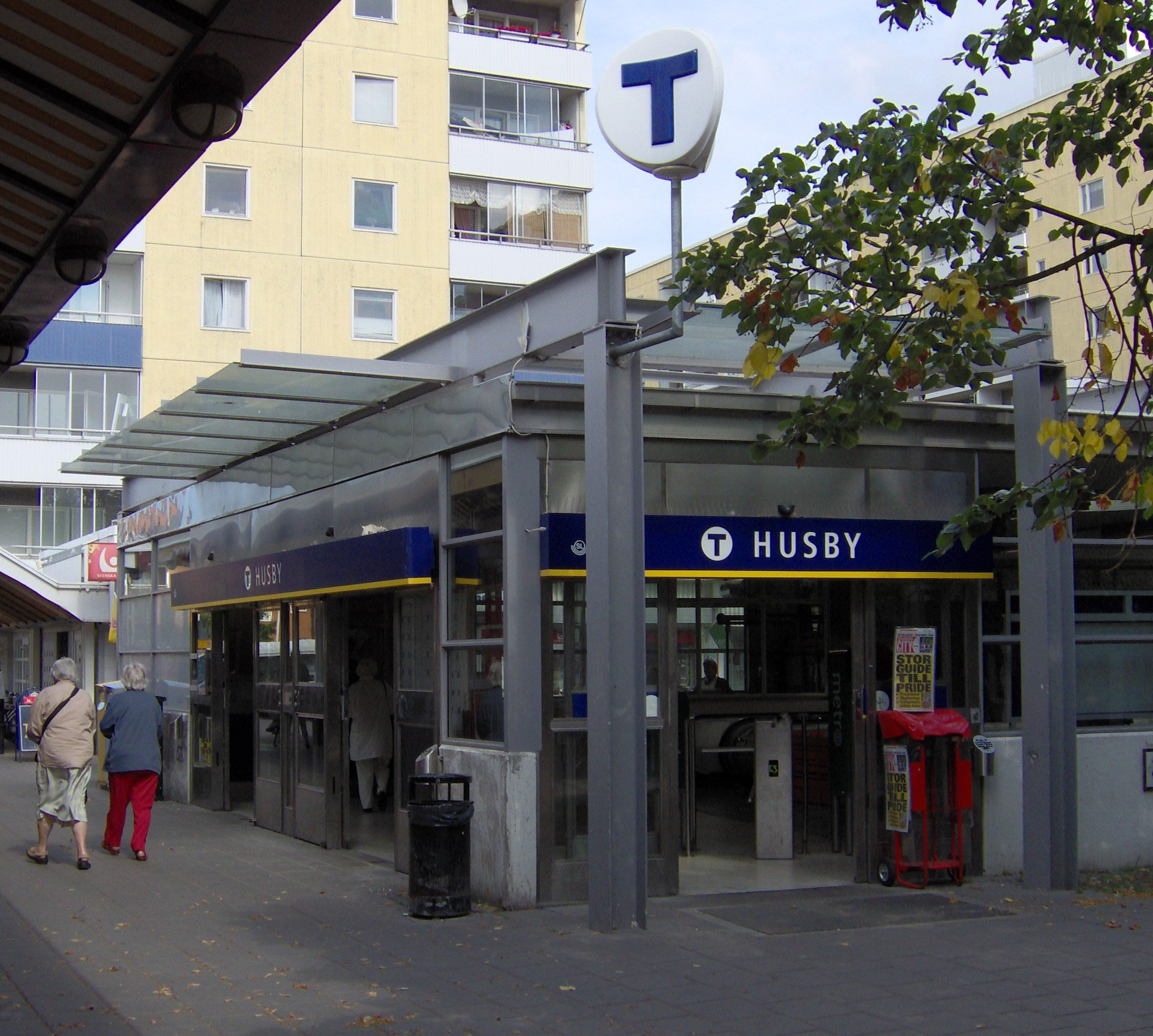 Subway Station of Husby, Stockholm Suburbs, Wiki Commons